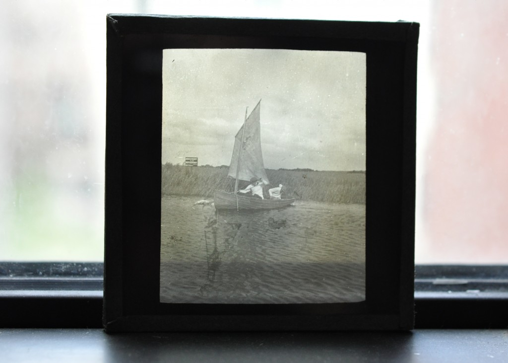 Glass Photographic Plate Schooner